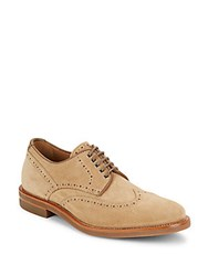 Aquatalia By Marvin K Carson Suede Oxfords Tan
