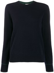 Tory Burch Contrast Stitching Cashmere Pullover 60