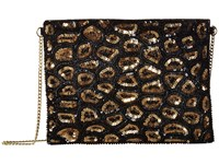 San Diego Hat Company Bsb3548 Sequin Animal Print Clutch With Gold Chain Strap Black Clutch Handbags