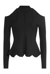 Jonathan Simkhai Pullover With Cutout Shoulers And Peplum Gr. M