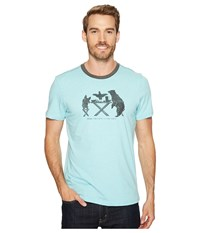 Prana Farm To Table Ringer Tee Surf Blue Men's T Shirt