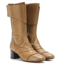 Chloe Lexie Leather Boots Brown