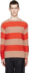 Paul Smith Red And Pink Striped Sweater