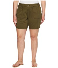 Jag Jeans Plus Size Somerset Relaxed Fit Shorts In Bay Twill Hedge Women's Shorts Green