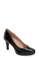 Women's Naturalizer 'Michelle' Almond Toe Pump Black Patent