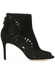 Tory Burch Cut Out Ankle Booties Black