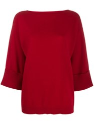 P.A.R.O.S.H. Boat Neck Sweatshirt Red