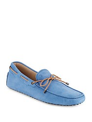 Tod's Lace Tie Moccasins Sapphire