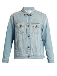 Off White The End Denim Jacket Light Blue