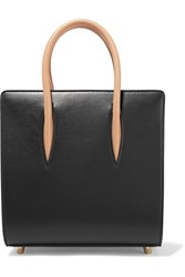 Christian Louboutin Paloma Small Studded Matte And Patent Leather Tote Black