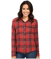 Joe's Jeans Thatcher Shirt Onxy Ruby Women's Clothing Red