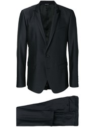 Dolce And Gabbana Single Breasted Suit Black