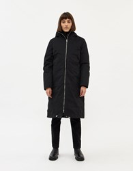 Just Female Steal Layered Coat In Black Size Extra Small