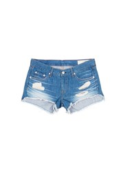 Rag And Bone 'Cut Off' Distressed Denim Shorts Blue