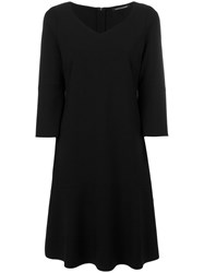 Luisa Cerano Fit And Flare Dress Women Polyamide Spandex Elastane Viscose 44 Black