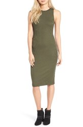 Leith Women's Rib Tank Dress Olive Sarma