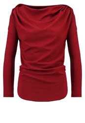 Vivienne Westwood Anglomania Amber Long Sleeved Top Oxblood Red Metallic