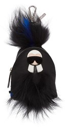 Fendi Black Mini Karlito Backpack Keychain