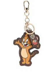 Etro Coated Canvas Mouse Key Holder Brown