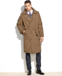 London Fog Iconic Belted Big And Tall Trench Raincoat British Khaki