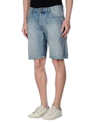 Only And Sons Denim Bermudas Blue