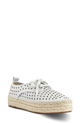 Nine West Women's Garza Platform Sneaker White Leather