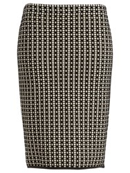 Max Studio Jacquard Knitted Skirt Black Ecru