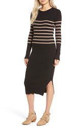 Women's Bp. Stripe Rib Knit Sweater Dress