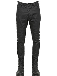Julius 16.5Cm Skinny Coated Cotton Denim Jeans Black