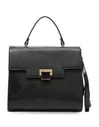 Braccialini Linda Crossbody Saffiano Leather Handbag Black Multi