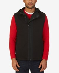 Nautica Men's Tech Hooded Vest True Black