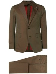 Tagliatore Classic Two Piece Suit Green
