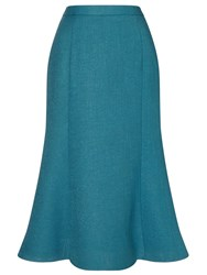 Eastex Textured Fit And Flare Skirt Blue