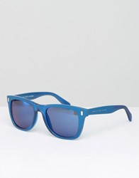 Marc By Marc Jacobs Square Sunglasses In Blue Blue