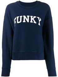 Zadig And Voltaire Funky Print Sweater Blue