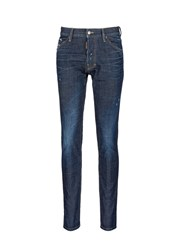 Dsquared 'Cool Guy' Leopard Print Calf Hair Patch Jeans Blue