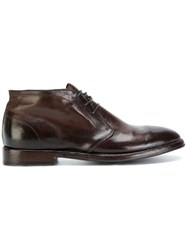 Alberto Fasciani Polished Lace Up Shoes Brown