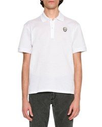 Alexander Mcqueen Classic Polo Shirt With Skull White