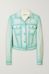 Lanvin Leather Jacket Blue