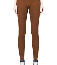 Rick Owens Ribbed Leggings Brown