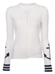 Lucien Pellat Finet Anchor Cardigan White