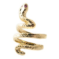 Jacquie Aiche Cleo Snake Ring Silver