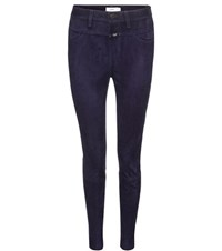 Closed Suede Skinny Trousers Blue