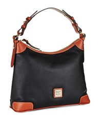 Dooney And Bourke Pebbled Leather Hobo Bag Black