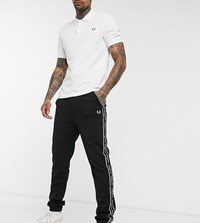 Fred Perry New Logo Taped Joggers In Black Exclusive At Asos