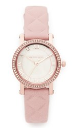 Michael Kors Petite Norie Leather Watch Rose Gold