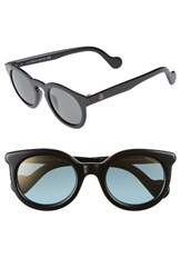 Moncler Women's 49Mm Keyhole Sunglasses Shiny Black Green Shiny Black Green