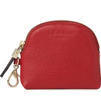 Lk Bennett Raven Leather Coin Purse Red Roca Red