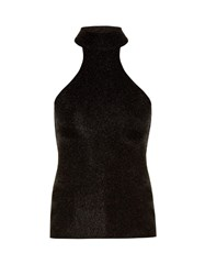 Saint Laurent Halterneck Sleeveless Top Black