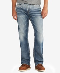 Silver Jeans Co. Men's Craig Easy Fit Bootcut Stretch Indigo